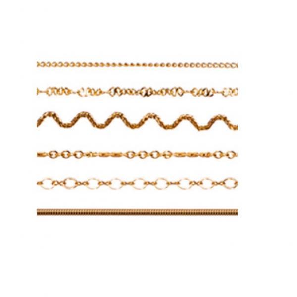 Cadena cuelga gafas chapada oro fina